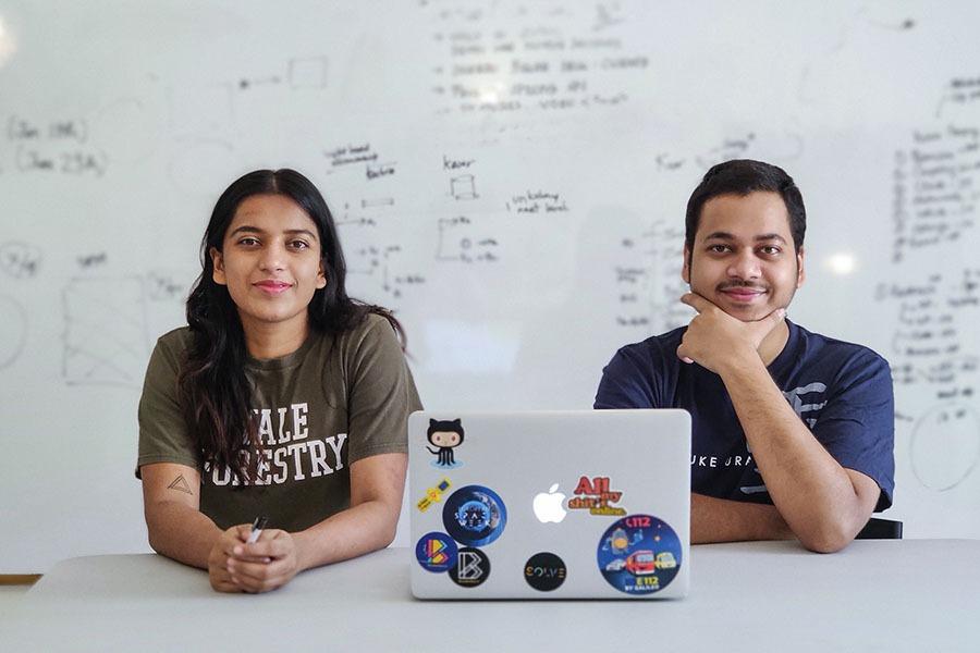 Abhilasha Purwar (CEO) and Kshitij Purwar (CTO)