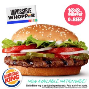 Impossible Whooper by Burger King