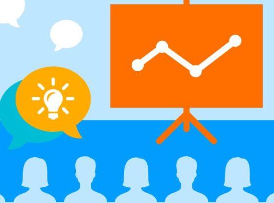 A presentation showcasing trends and ideas