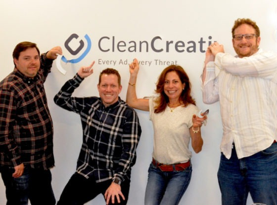 Clean.io team after they announced 5M$ in fundraise