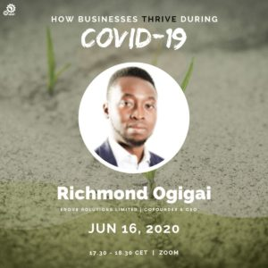 Richmond Ogigai, CEO of Enov8 solutions