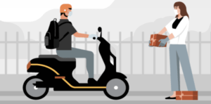 Delivery through Uber Connect