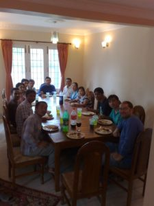 CloudFactory's whole team used to go to Mark's house daily for lunch
