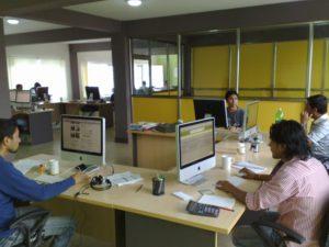 CloudFactory's early office in Kathmandu, Nepal