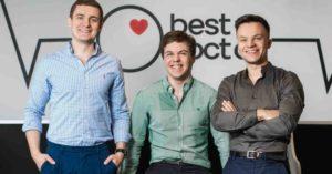 BestDoctor Team (L-R: Mikhail Belyandinov, Philip Kuznetsov,Mark Sanevich)